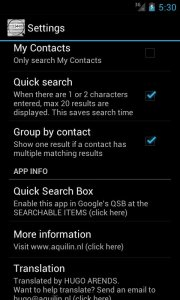 Contacts Search Advanced
