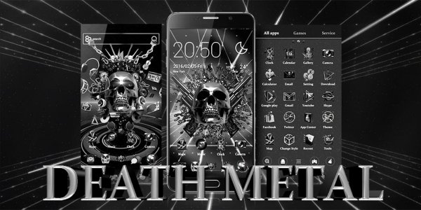 DEATH METAL GO Launcher Theme