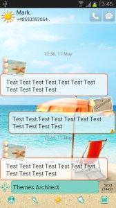 Summer Beach Theme for GO SMS