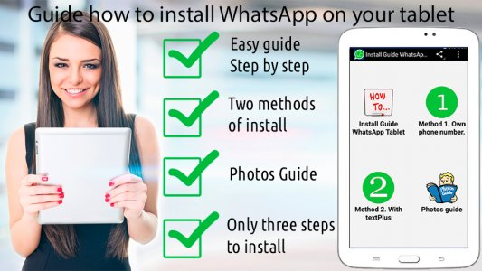 Guide WhatsApp for tablet