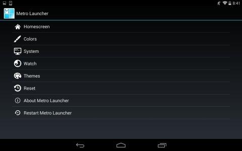 Metro UI Launcher 8.1