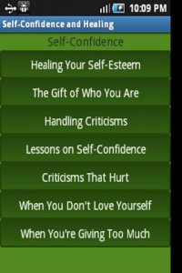 Self Confidence and Healing