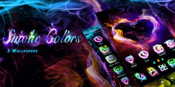 Smoke Colors GO Launcher Theme