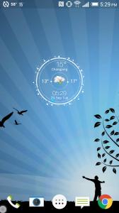 Real-time Weather Watch Widget