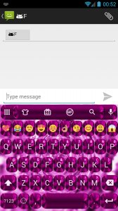Shading Pink Emoji Keyboard