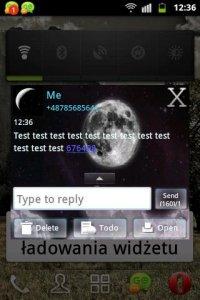 Night Moon GO SMS Theme