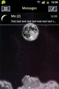 Night Moon GO SMS Theme