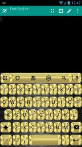 Metallic Gold Emoji Keyboard