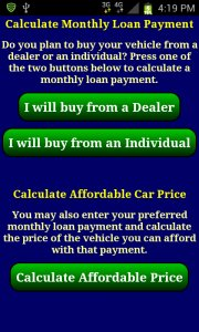 Auto Car Loan Payment Calculator Free