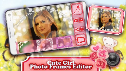 Cute Girl Photo Frames Editor