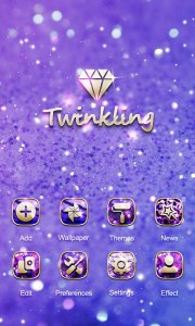 Twinkling GO Launcher Theme
