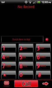 GO Contacts Black & Red Theme