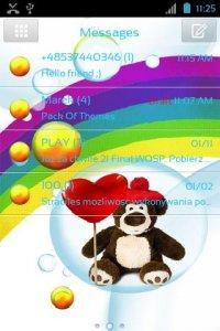 Cute Teddy Bear for GO SMS Pro