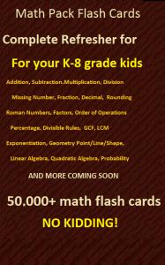 Math Pack Flash Cards
