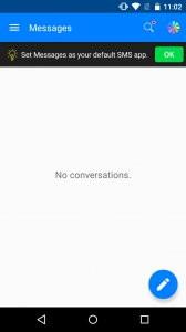 Messenger for SMS