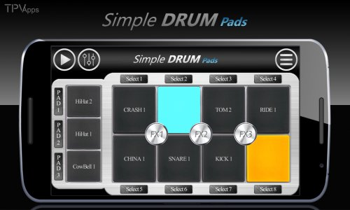 Simple Drums Rock - Realistic Drum Set