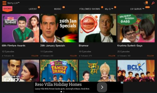 SonyLIV–LIVE Cricket TV Movies