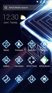 Magical Cool Glitter Technology Launcher theme