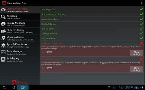 Zoner AntiVirus - Tablet