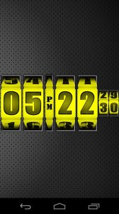 3D Rolling Clock YELLOW