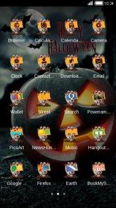 Halloween Night Witch Wallpaper Pumpkin 3D Theme