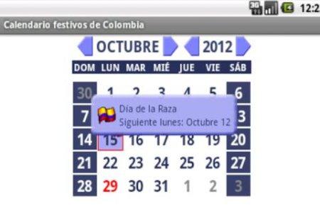 Calendario 2017 Colombia.Calendario Festivos Colombia 2017 2018 Con Widget Android