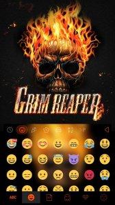 Grim Skull Emoji Keyboard