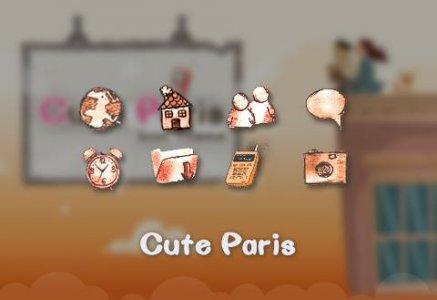 Cute Paris Comic Theme: Cartoon Paris launcher