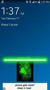 Lock Screen fingerprint joke