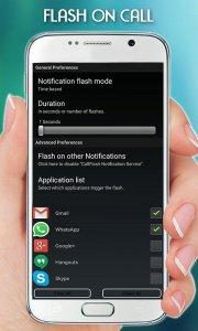 Flash Light on Call & SMS