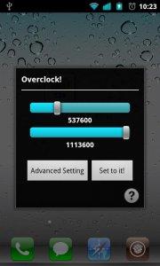 OverclockWidget (Need Root)