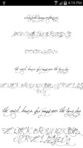 50 romance flip fonts apk