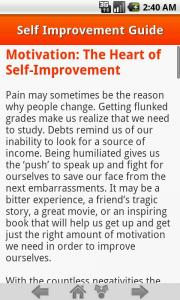 Self Improvement Guide