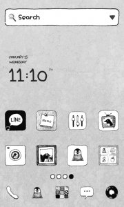 SimplePenguin gray dodol theme