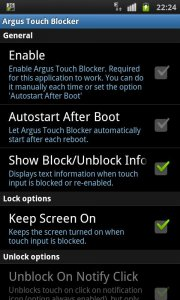 Touch Blocker / Disable Touch