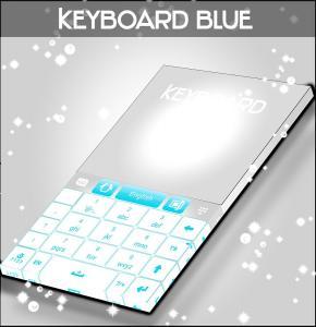 Blue Keyboard Free Theme