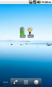 Brightness Battery Widget