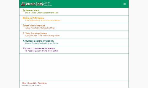 Indian Railways @etrain info Android App APK (info etrain in) by