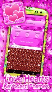Love Hearts Keyboard Themes