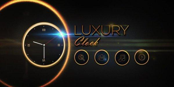 Luxury Clock CM Launcher Theme