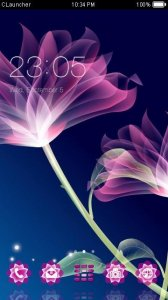 Neon Flower Theme C Launcher