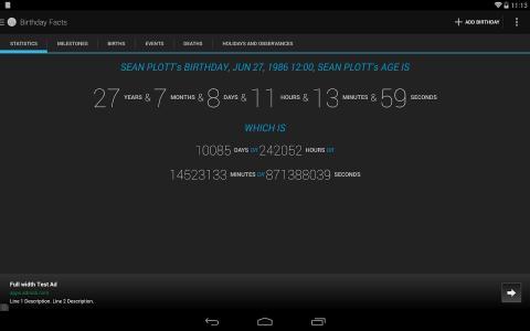 Age Calculator Birthday Facts