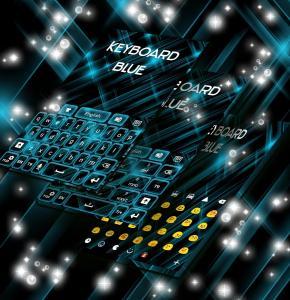 Keyboard Neon Blue Theme