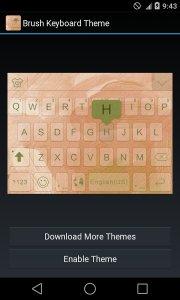 Brush Theme - iKeyboard Emoji