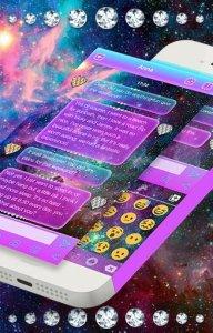 Galaxy Glitter Emoji Keyboard