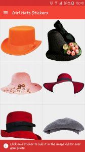 Girls Hats Stickers