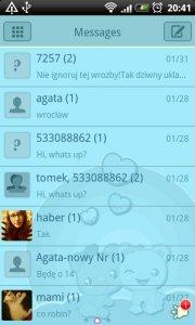GO SMS Blue Bears Theme