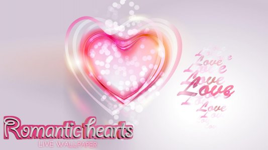 Romantic Hearts Live Wallpaper