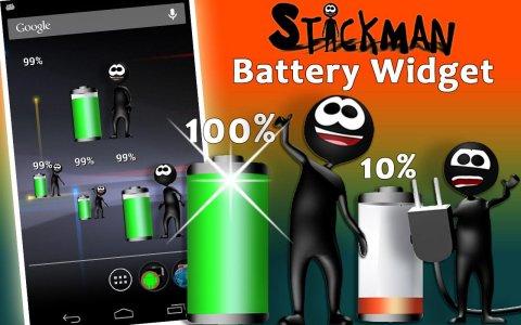 Stickman Battery Widget