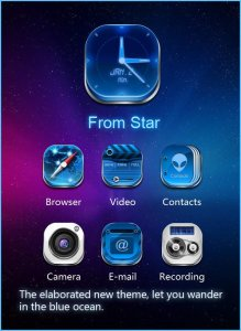 Galaxy-Comet 3D Launcher Theme